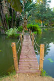 Ponte de madeira Imagem de Stock
