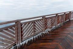 Ponte de madeira congelada Imagem de Stock