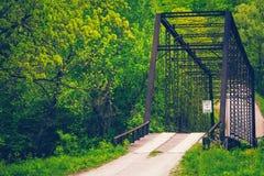 Ponte de madeira de Ozarks imagens de stock