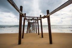 Ponte de madeira histórica Imagens de Stock Royalty Free