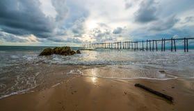 Ponte de madeira histórica Fotografia de Stock