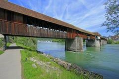Ponte de madeira hist?rica Imagem de Stock Royalty Free