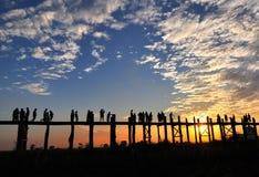 A ponte de madeira a mais longa Fotografia de Stock Royalty Free