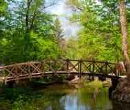 Ponte de madeira velha Imagem de Stock Royalty Free