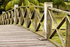 Ponte de madeira velha Imagem de Stock