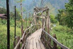 Ponte de madeira velha Fotografia de Stock