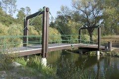 Ponte De madeira_Wooden Przerzucający most Obrazy Royalty Free