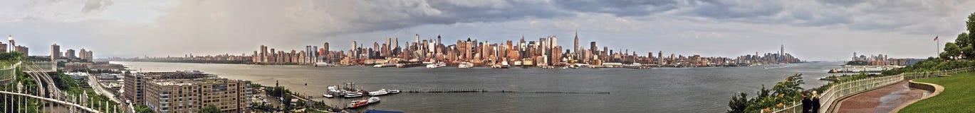 Ponte de Manhattan e de Brooklyn fotografia de stock