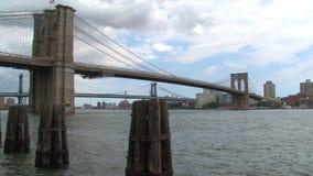 Ponte de Manhattan e de Brooklyn em New York video estoque
