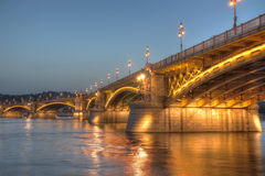Ponte de Margaret, Budapest, Hungria Imagem de Stock
