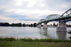 A ponte de Maria Valeria que fotografa o lado húngaro Foto de Stock Royalty Free