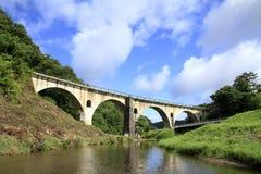 Ponte de Miyamori em Tono fotos de stock