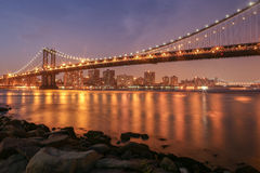 Ponte de Mmanhattan Foto de Stock Royalty Free