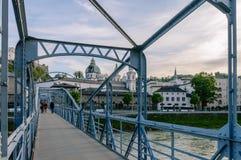Ponte de Moart em Salzburg imagens de stock royalty free