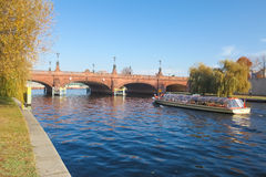 Ponte de Moltkebrücke Imagens de Stock Royalty Free