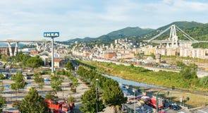 Ponte de Morandi fotografia de stock