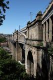 Ponte de nível elevado, Newcastle em cima de Tyne fotografia de stock
