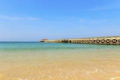 Ponte de Natai na praia de Natai Foto de Stock