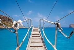 Ponte de navio Imagem de Stock Royalty Free