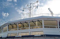 Ponte de navio de cruzeiros Fotografia de Stock Royalty Free