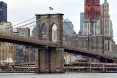 Ponte de New York City & de Brooklyn Fotos de Stock