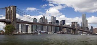 Ponte de New York - de Brooklyn Fotografia de Stock