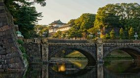 Ponte de Nijubashi no palácio imperial do Tóquio Imagem de Stock Royalty Free