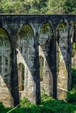 Ponte de nove arcos em Ella, Sri Lanka fotos de stock