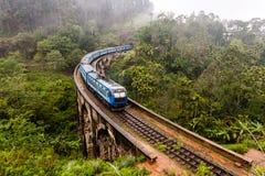 Ponte de nove arcos em Sri Lanka, Ella Fotos de Stock Royalty Free