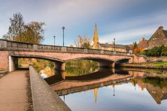 Ponte de Oldgate sobre o rio Wansbeck Fotos de Stock Royalty Free
