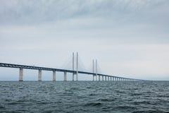 A ponte de Oresund entre Dinamarca e Suécia Foto de Stock Royalty Free