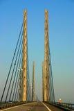 Ponte de Oresund vista de um carro Fotografia de Stock Royalty Free