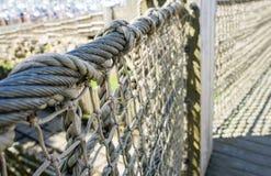 Ponte de passeio de madeira fotografia de stock