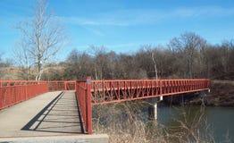 Ponte de passeio sobre o Cumberland River 2 imagem de stock royalty free