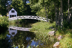 Ponte de pedestre velha Foto de Stock Royalty Free