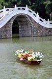 Ponte de pedra branca foto de stock