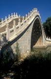 Ponte de pedra branca Foto de Stock Royalty Free