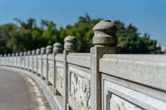 Ponte de pedra com estilo chinês e estilo antigo imagens de stock royalty free