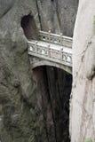 Ponte de pedra da montanha, Huangshan, China Imagens de Stock Royalty Free