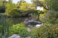 Ponte de pedra de Central Park imagem de stock royalty free