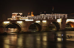Ponte de pedra em Skopje macedonia Imagem de Stock Royalty Free