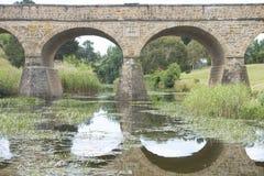 Ponte de pedra histórica em Richmond, Tasmânia, Austrália fotografia de stock