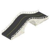 Ponte de pedra isométrica Foto de Stock Royalty Free