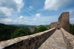 Ponte de pedra no castelo Velhartice Imagem de Stock Royalty Free
