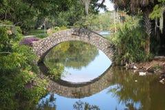 Ponte de pedra no parque de Nova Orleães foto de stock