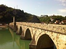Ponte de pedra velha em Visegrad Imagem de Stock Royalty Free