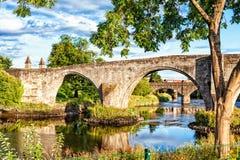 A ponte de pedra velha de Stirling verão fora fotos de stock royalty free