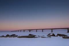 Ponte de PEI Confederation no nascer do sol fotos de stock
