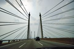Ponte de Penang foto de stock