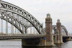 A ponte de Peter o grande imagens de stock